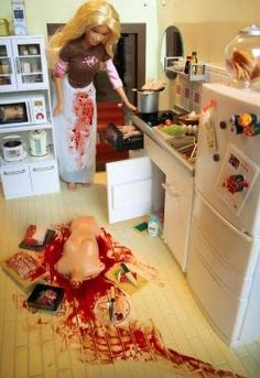 Mariel Clayton - The Other White Meat, art, photography, Barbie, Ken, toys, macabre, morbid, murder