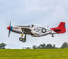 Photo of Airplanes, Airliners, Jets, and more - FlightAware Ww2 Fighter Planes, Fighter Aircraft, Fighter Jets, Military Jets, Military Weapons, Military Aircraft, Fixed Wing Aircraft, Tuskegee Airmen, P51 Mustang