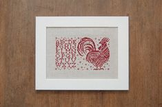 The Rooster Alphabet Sampler  Direct Download Cross by modernfolk