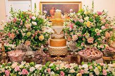 Decoração mesa do bolo