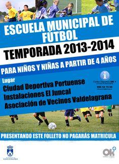 Los más pequeños ya pueden apuntarse a la Escuela Municipal de Fútbol.