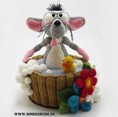Häkelanleitung für Wasserratte / diy knitting instruction for water rat by…
