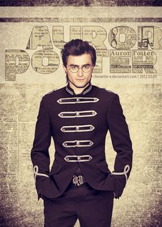 Harry Potter as an Auror. That's a pretty BAMF uniform.