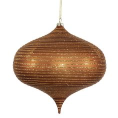 Glitter Onion Ornament