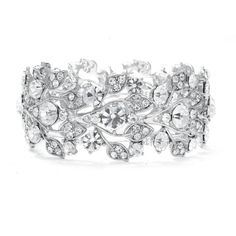 Ariel Bridal Bracelet : Austrian Crystal Vintage-Vine | www.glamadonnashop.com.au