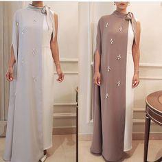 Wedding Dresses Hijab Ready To Wear 63 Ideas Arab Fashion, Muslim Fashion, African Fashion, Abaya Style, Stylish Dresses, Fashion Dresses, Abaya Designs, How To Wear Scarves, Mode Hijab