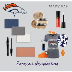 "In need of Mary Kay products anywhere within the U.S. or interested in becoming a consultant? Contact me w questions! annaprince@marykay.com www.marykay.com/annaprince ""Game Day Inspiration - Denver Broncos"" by natalie-edmondson"