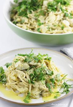 Pasta with zucchini, 6 Zucchini Pasta, Pesto, Spaghetti, Health Fitness, Food And Drink, Cooking Recipes, Lunch, Ethnic Recipes, Cakes