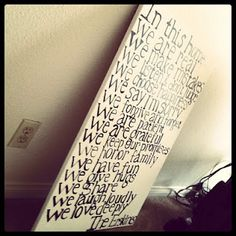 """First home decoration- """"In this home...""""    kimberlyersk1ne.blogspot.com"""