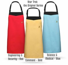 Deck out your whole crew with fitting Trekkie aprons!
