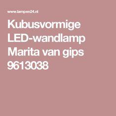 Kubusvormige LED-wandlamp Marita van gips 9613038