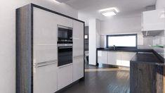modern flat wooden kitchen