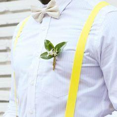 The Grunion Run : Groomsmen Shop - Yellow Stripe Bow Tie