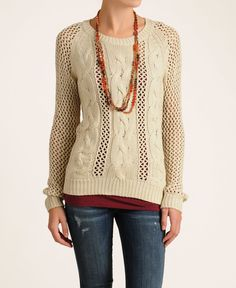 Bardot 'Holly' Mesh Cable Knit Sweater | South Moon Under