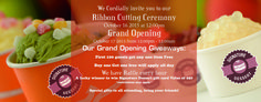We Cordially Invite you to our RIBBON CUTTING CEREMONY October 16,2015 at 12:00 PM .  https://instagram.com/signature_dessert/