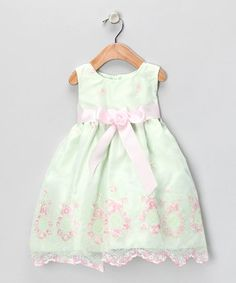 Lime & Pink Lace Dress - Infant, Toddler & Girls
