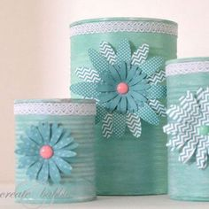 Upcycled Tin Can Craft (she: Jeanie) - DIY Upcycled Crafts Soup Can Crafts, Tin Can Crafts, Crafts To Do, Arts And Crafts, Crafts With Tin Cans, Recycled Tin Cans, Recycled Crafts, Tin Can Art, Tin Art