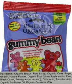 What are you handing out this Halloween?  Yummy Earth Candy, 50 Pack: Certified Organic; gluten-free; egg-free; soy-free; nut-free; peanut-free; casein-free; dairy-free. 100% Vitamin C; All Natural Fruit Extracts; No Artificial Dyes or Flavors; Made with Organic Fruit Juice Save 15% today.