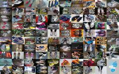 Running shoes wall #mozaiek