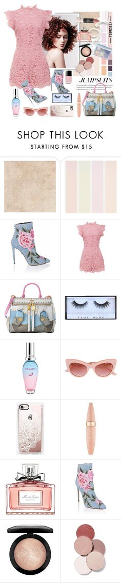 """""""Lacy Baby"""" by traceygraves ❤ liked on Polyvore featuring BB Dakota, Moschino, ESCADA, Casetify, Maybelline, Christian Dior, MAC Cosmetics, LunatiCK Cosmetic Labs, Anastasia Beverly Hills and jumpsuits"""