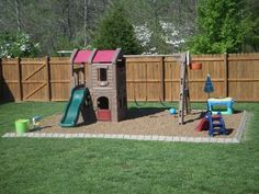 Use Stone Edge decorative edging for your children's playground! It is easy to install and will be delivered directly to your home! Order yours today from YardProduct.com