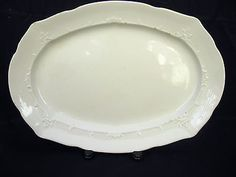 "17"" Royal Ironstone china white Turkey Platter Alfred Meakin England antique vtg"