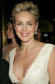 Sharon Stone LOVE short hair