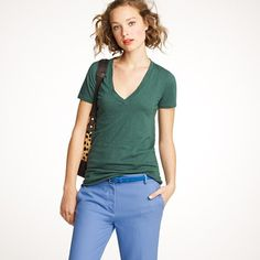 Slouchy with a deep V. #tshirt