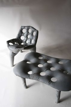 cool concrete chairs
