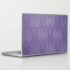 Art Deco Haunted Entryway Wallpaper At The Mansion In Some Kingdom Laptop & Ipad Skin by Bronzestarstudio - 13
