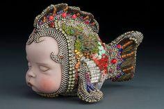 Betsy Youngquist jewelry beadwork seed beads mosaic embedding Rockford Jazz