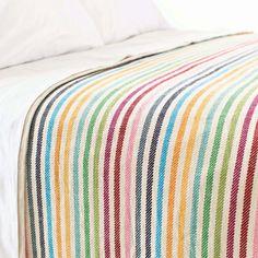Pine Cone Hill Rainbow Stripe Blanket @Layla Grayce