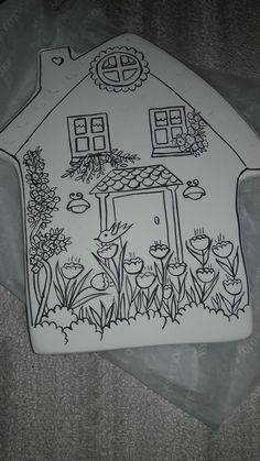 Pottery Houses, Slab Pottery, Ceramic Pottery, Pottery Painting, Ceramic Painting, Clay Fairy House, Tree Coloring Page, Bird Houses Painted, Clay Fairies