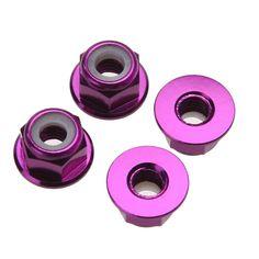 102049 HSP 1/10 4WD RC Car Purple Aluminum Nylon Nut M4 02190 Upgrade Parts