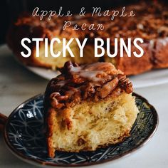 Apple & maple pecan sticky buns
