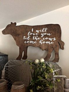 COW SIGN  Farmhouse Decor  Kitchen Decor  Home Decor
