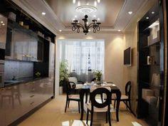 Стены на кухне лучше оформить в белом, бежевом, сером цвете. К таким обоям подойдет мебель любых форм и оттенков. А сочетание светлых стен и глянцевых поверхностей обеспечит зрительное расширение ограниченного пространства комнаты.