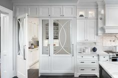 Hidden kitchen pantry doors