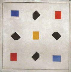 bart van der leck composition 1921