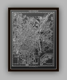 Vintage Early 1900's Lithograph Maps..identical to Restoration Hardware with the exception of more Cities to choose from!