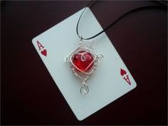 Ace in the Hole by Starlit-Sorceress Marvel Cards, Ace Of Hearts, Mariners Compass, In The Hole, The Draw, Valentines, Pendant Necklace, Drop Earrings, Playing Card