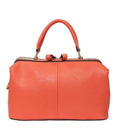 Take a look at the Elise Hope Coral Royal Satchel on #zulily today!