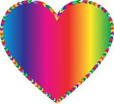 Multicolored Arrows Heart Filled by GDJ