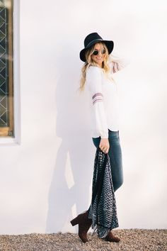 37e003dba7ec Friendsgiving Outfit Idea by Dash of Darling and Sale from LOFT. Boho  Outfits ...