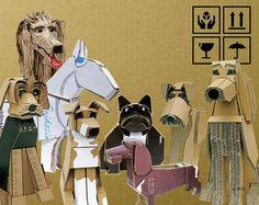 """""""Días de perros""""  Cartón reciclado. Fab 2013."""