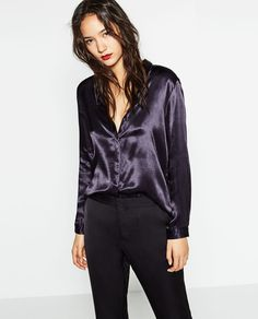 ZARA - WOMAN - SATEEN BLOUSE WITH BACK DETAIL