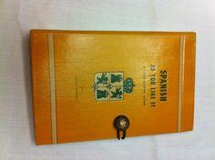 Spanish book clutch