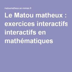 Le Matou matheux : exercices interactifs en mathématiques