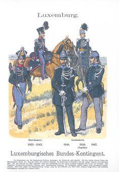 Band XV #27.- Luxemburg. Bundeskontingent 1832-67. Maréchausee. Gendarmerie.