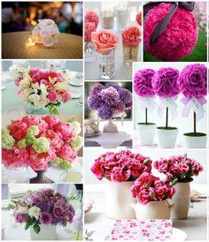 Centros de Mesa para Casamiento Florales